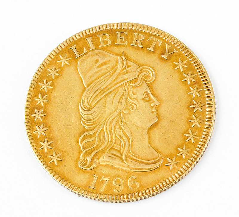 United States 1796 $10 gold coin, regular strike w
