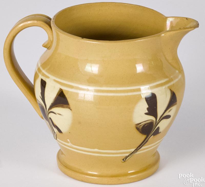 Mocha yellowware pitcher