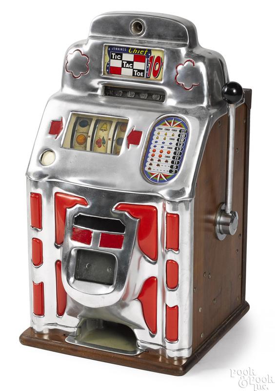 Jennings 10-cent Chief tic-tac-toe slot machine