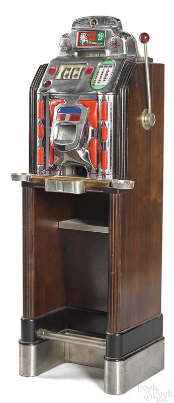 Jennings Nevada Club 25-cent light-up slot machine