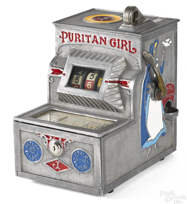 Jennings 5-cent {Puritan Girl} trade stimulator