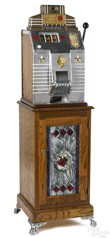 Jennings 5-cent {Bronze Chief} slot machine