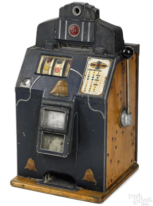 Jennings 5-cent Dixie slot machine