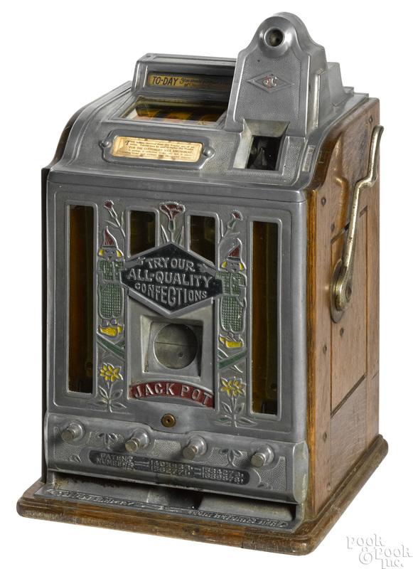 Jennings 5-cent trade stimulator slot machine