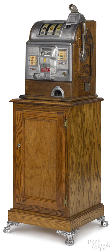 Jennings 5-cent Rock-Ola slot machine