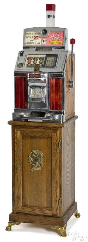 Jennings 1-dollar light-up slot machine