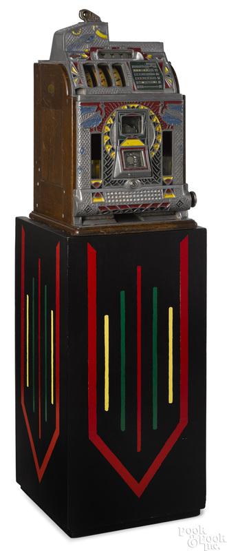 Rare Jennings 5-cent Peacock slot machine