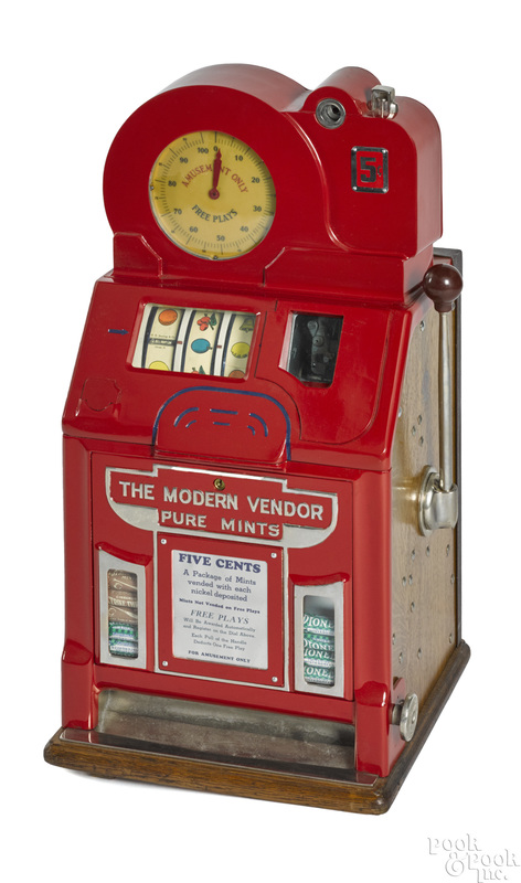 Jennings 5-cent Modern Vendor trade stimulator