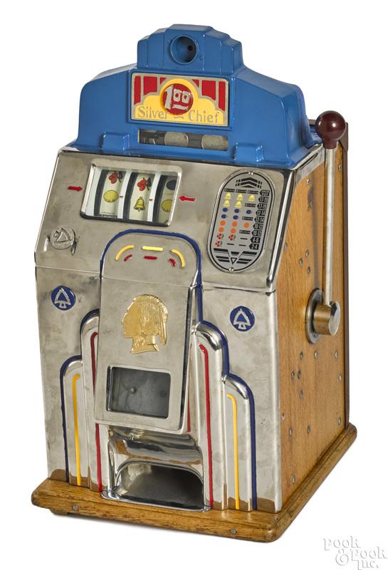 Jennings 1-dollar Silver Chief slot machine