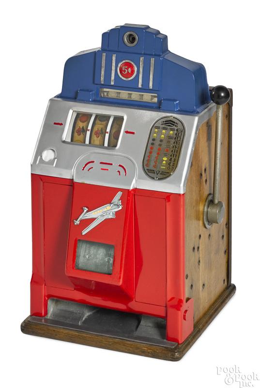 Jennings 5-cent Sky Chief slot machine
