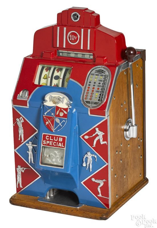 Jennings 10-cent Club Special slot machine