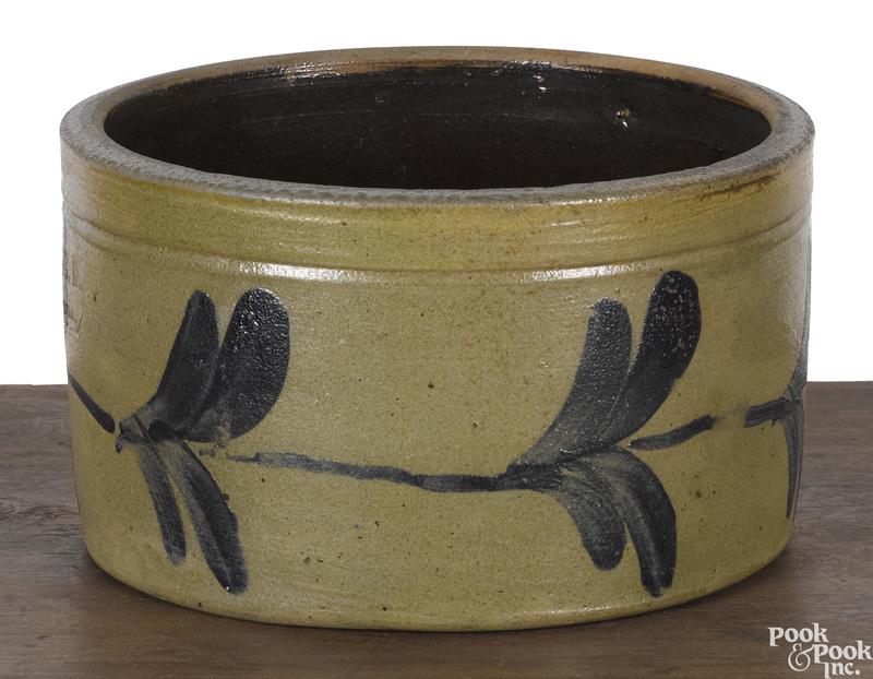 Philadelphia Remmey stoneware butter crock