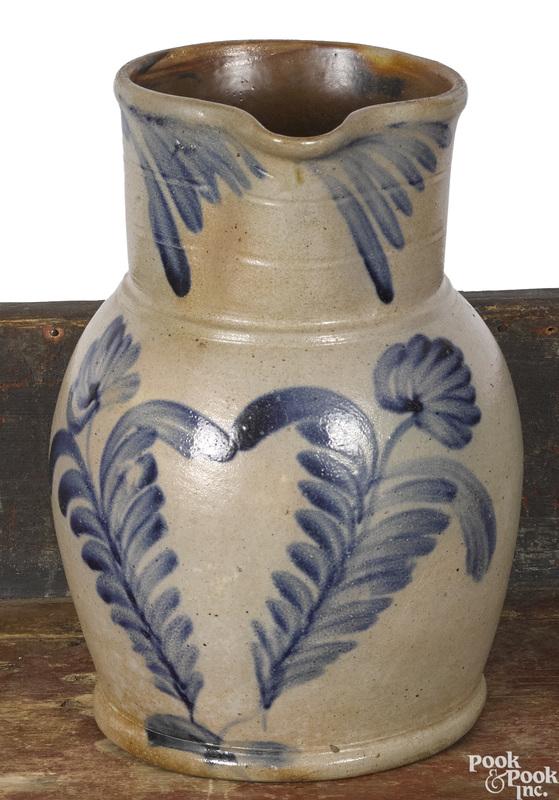 Pennsylvania Remmey stoneware pitcher, 19th c.