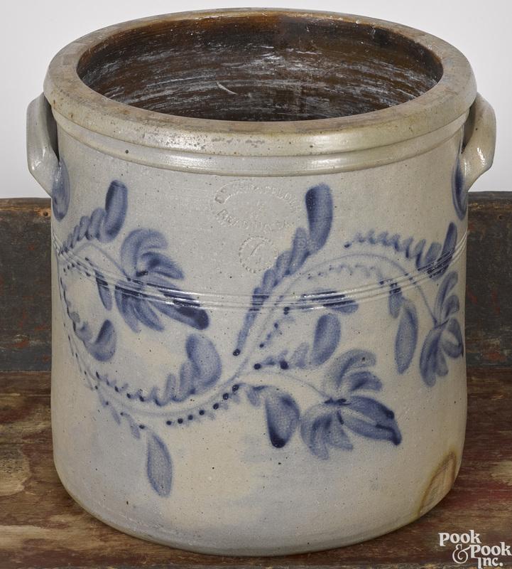 Pennsylvania stoneware crock, 19th c.