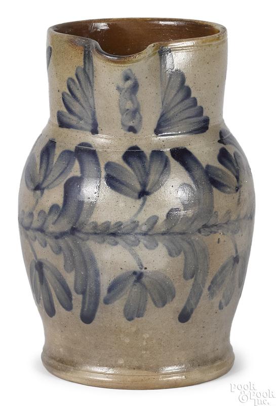 Pennsylvania stoneware pitcher, 19th c.