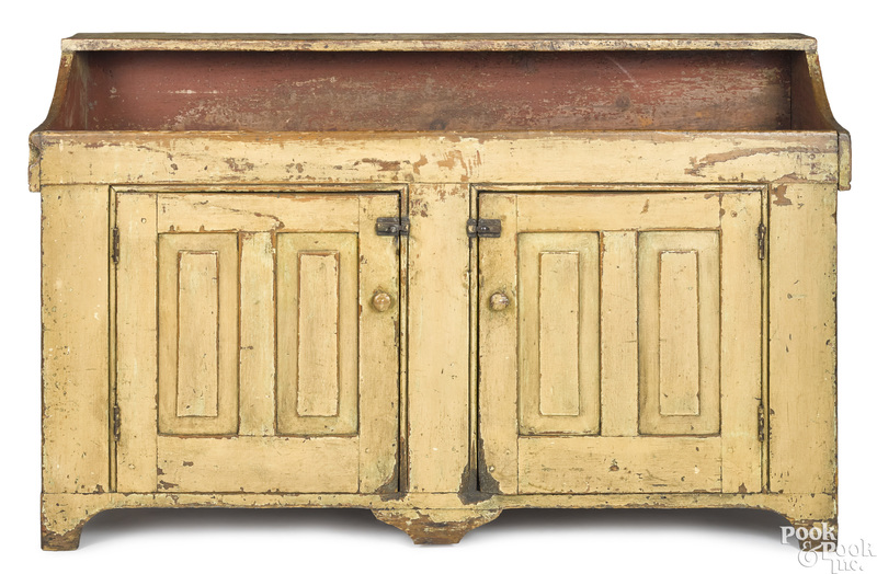 Pennsylvania painted pine drysink, early 19th c.