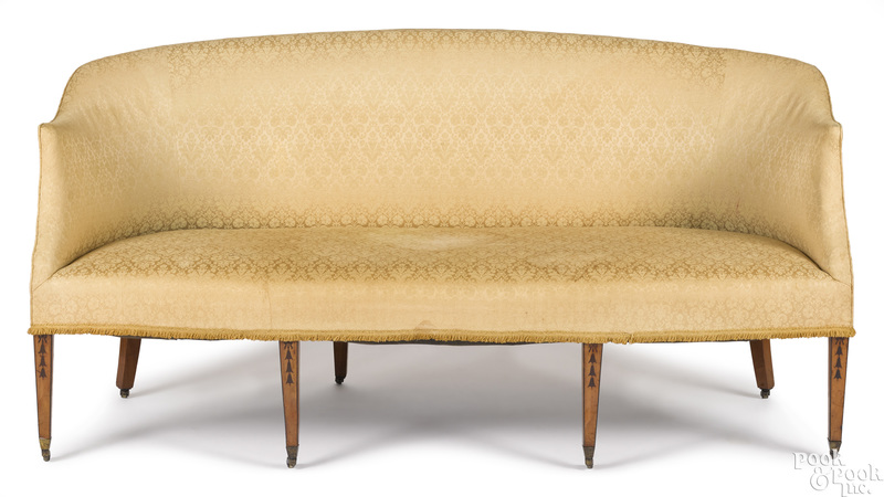 Regency satinwood sofa, ca. 1810