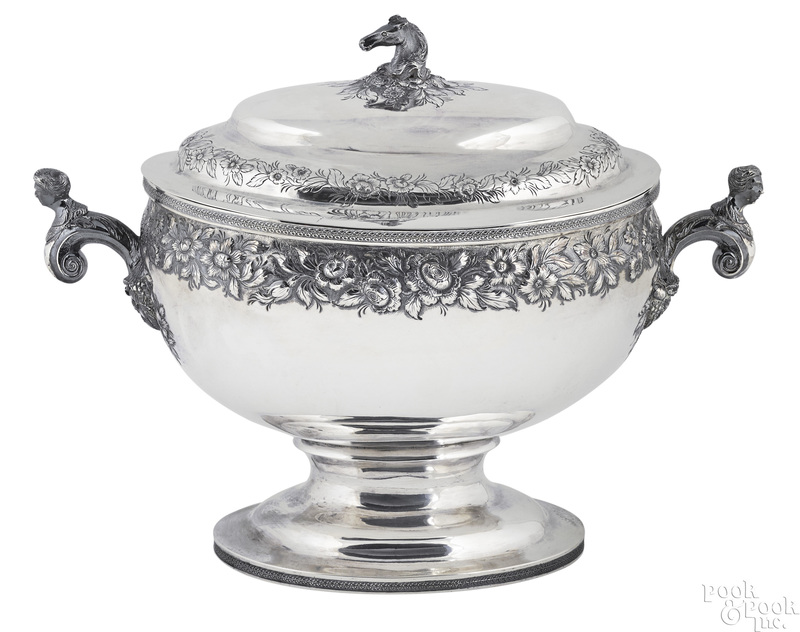 Baltimore Maryland silver tureen, ca. 1828