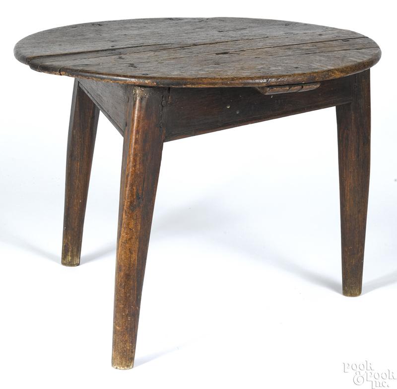 English oak low table, 18th c.