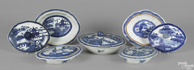 Five Chinese export porcelain Canton