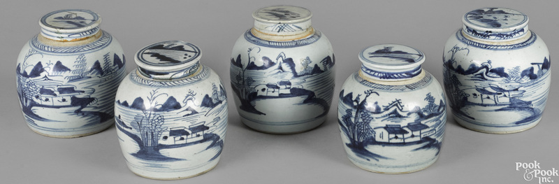 Five Chinese export porcelain
