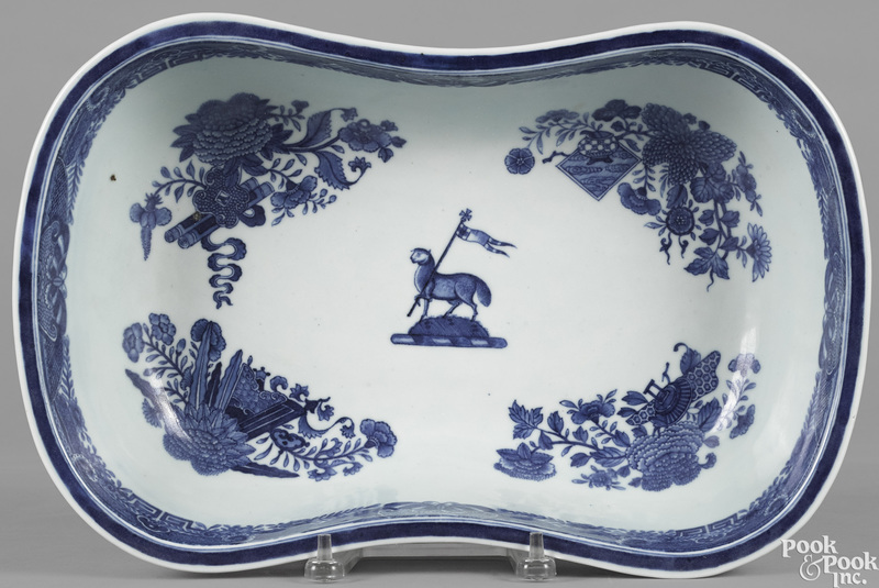 Chinese export porcelain blue Fitzhugh foot bath