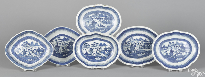 Six Chinese export porcelain Canton