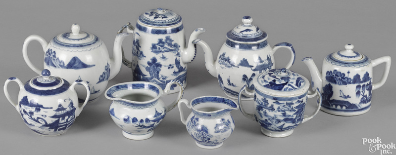 Chinese export porcelain Canton teawares