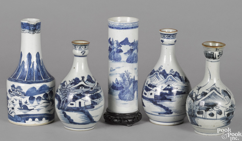 Three Chinese export porcelain vases