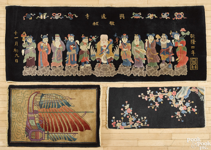 Twelve Chinese mats, early/mid 20th c.