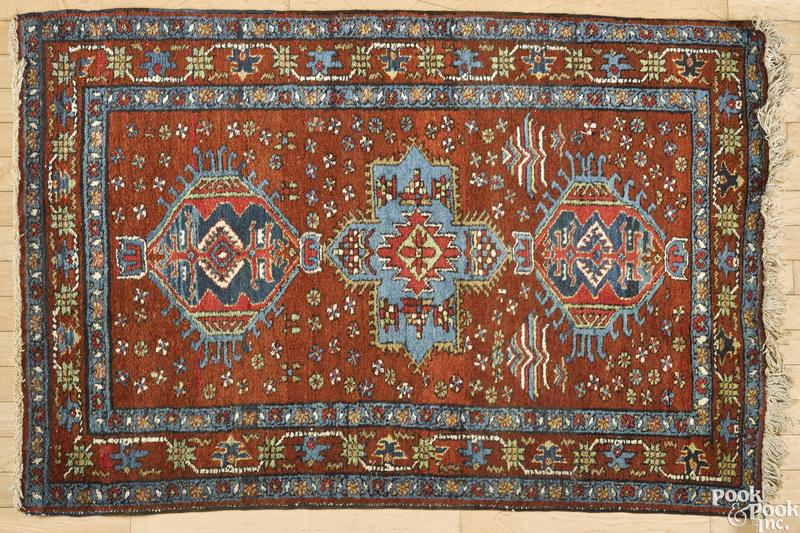 Northwest Persian mat, ca. 1940
