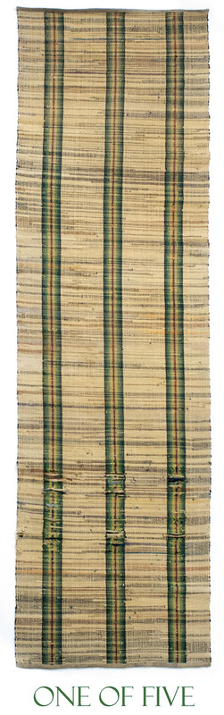 Five matching rag rug runners, ca. 1900, with gree