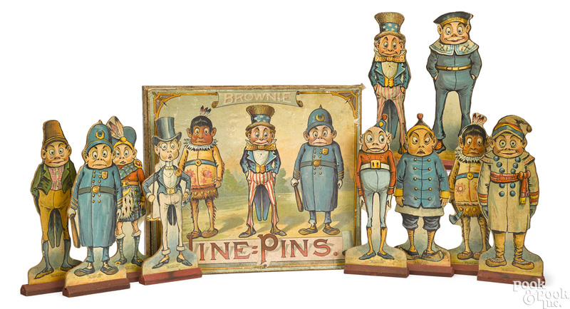 McLoughlin Bros. Brownie Nine Pins game