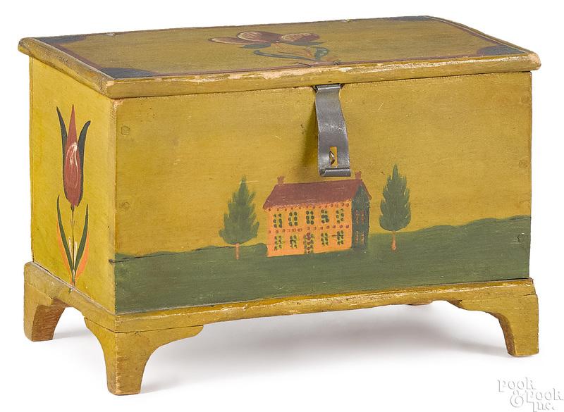 Jacob or Jonas Weber painted dresser box