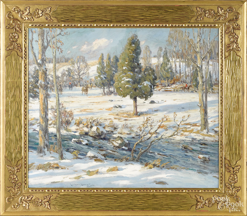 Charles Morris Young winter landscape