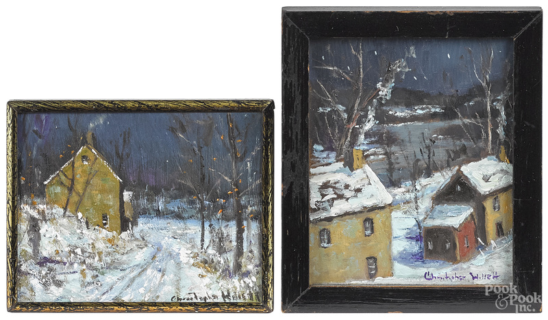 Christopher Willett, two winter landscapes