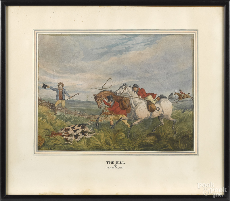 Henry Alken, two fox hunting scenes