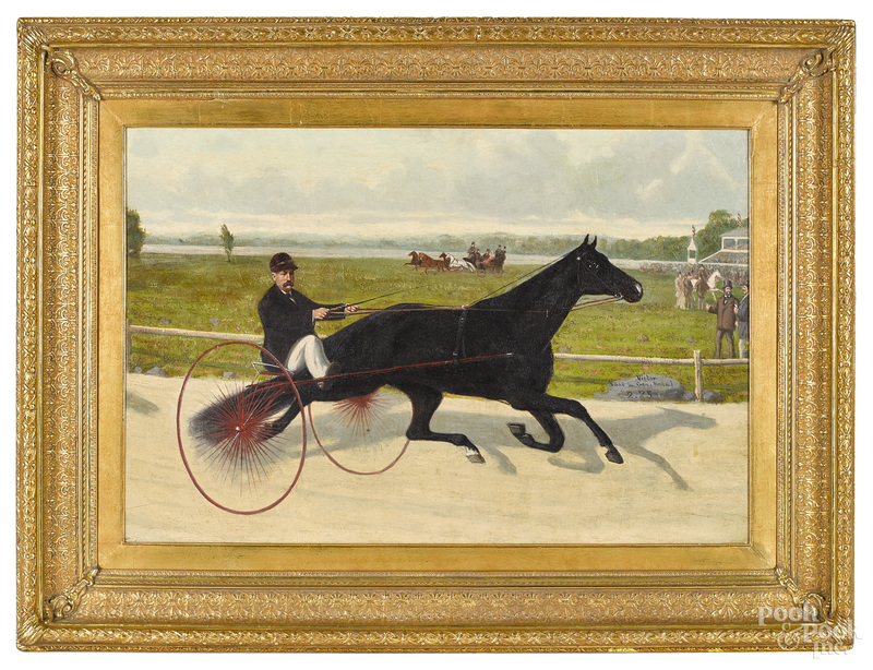 John McAuliffe, horse and sulky