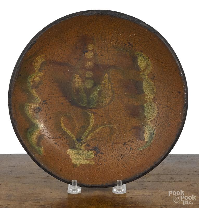 Pennsylvania redware pie plate