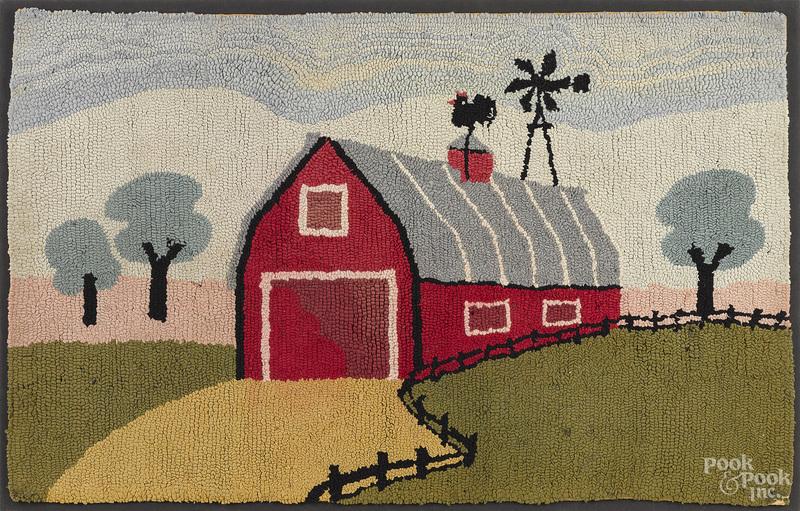 American hooked rug