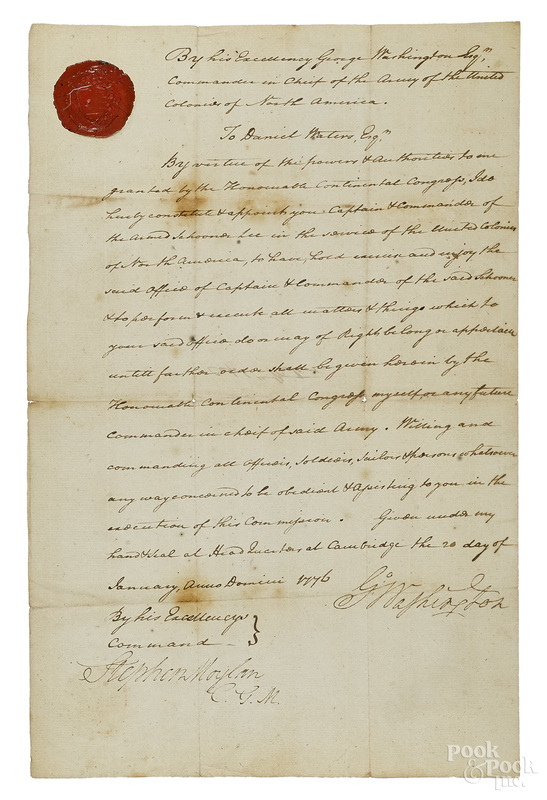 George Washington signed appointment