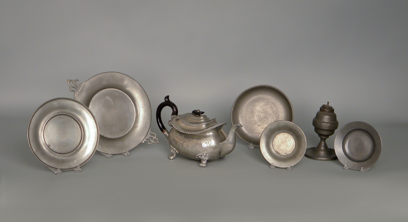 Dixon & Son pewter teapot, 6