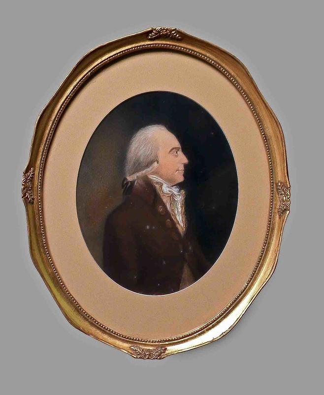 Pastel portrait of a gentleman, ca. 1800, 9 1/2