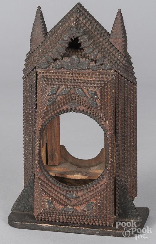 Tramp art clock case
