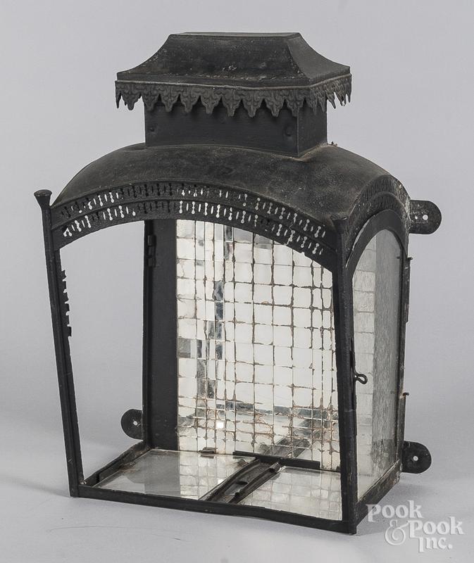 Painted tin lantern