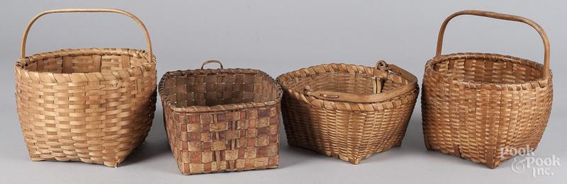 Four splint gathering baskets