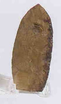 Ceremonial yellow jasper spear point from the Cres