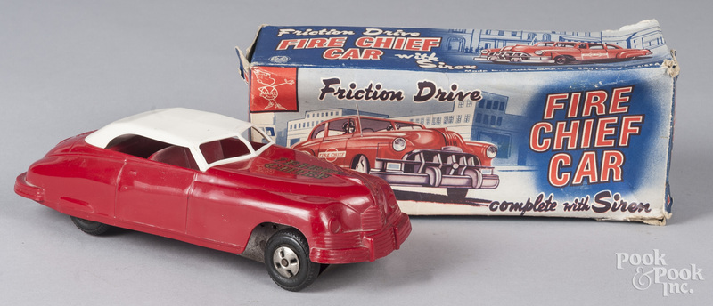 Marx plastic friction fire chief car