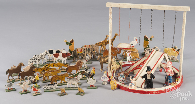 Miscellaneous circus and ark animal toys