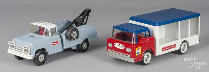 Buddy L and Nylint pressed steel trucks